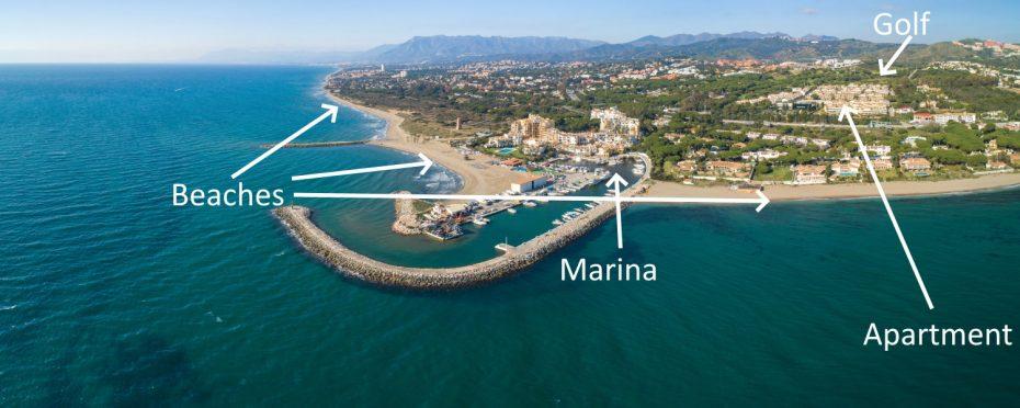 Cabopino Marina aerial photo